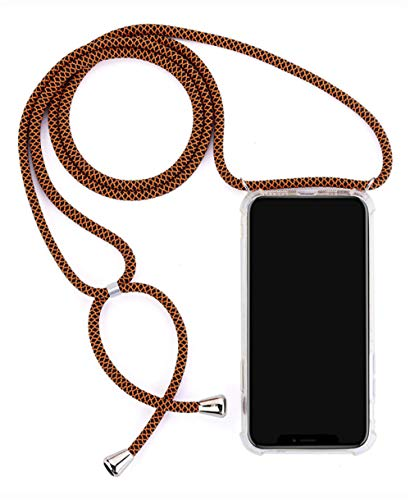 Transparent phone case, suitable for Samsung Galaxy A6 A7 A8 A9 2018 A3 A5 soft silicone case protective cover lanyard shoulder strap cord-A7 2018_j_Case & Strap