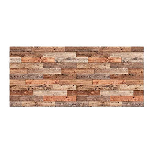 Adhesivo decorativo para pared, diseño de cabecero de cama de madera
