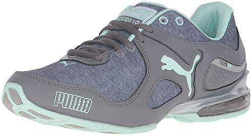 PUMA Women's Cell Riaze Heather FM Cross-Trainer Shoe, Steel Gray/Drizzle/Bay, 9.5 M US