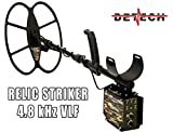 Detech Relic Striker 4.8 kHz VLF Metal Detector Con bobina SEF 18x15cm, sistema batteria ricaricabile,...