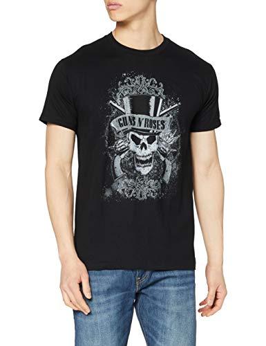 Oficial Guns N Roses Faded Skull T-Shirt