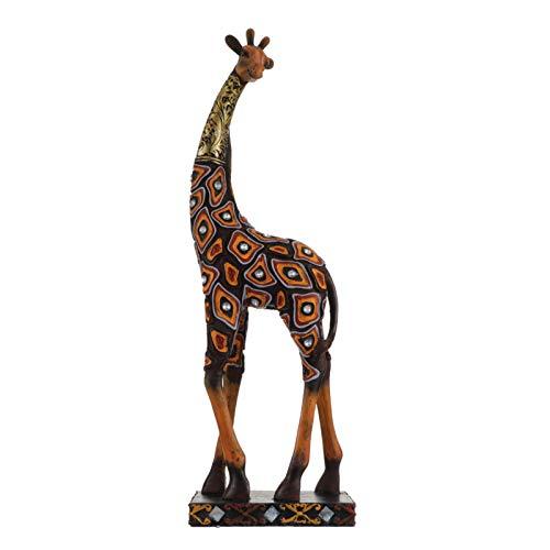 GARNECK Estatua de Jirafa Resina Figuras de Jirafa de Mesa Esculturas de Animales de Vida Silvestre Escritorio Decorativo Adorno de...