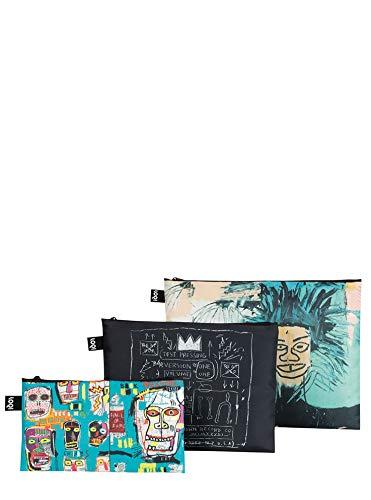 LOQI LOQI JEAN MICHEL BASQUIAT Zip Pockets Münzbörse, 32 cm, Basquat