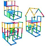Deluxe 296 Piece Construction Toy Set - Building Play-Structures for Indoors & Outdoors - Fun & Educational Learning Toys for Ages 2 to 12