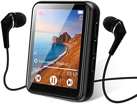 MP3 Player Bluetooth 5 0 Touch Screen Music Player 16GB Portable mp3 Player with Speakers high product image