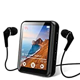 MP3 Player Bluetooth 5.0 Touch Screen Music Player 16GB Portable mp3 Player with Speakers high Fidelity Lossless Sound Quality mp3 FM Radio Recording e-Book 1.8 inch Screen MP3 Player Support (128GB)