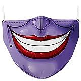 AIEOE Unisex Tessuto Mascherine Lavabile con Filtro Sostituibile per Cosplay Halloween e Attività all'aperto Colore 06