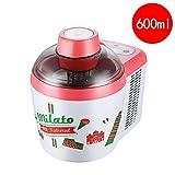 Máquina para hacer helados, yogurt congelado y máquina de sorbetes sin BPA con máquina inteligente para hacer sorbetes de yogurt para el hogar, forro de acero inoxidable, helado casero fácil con libr