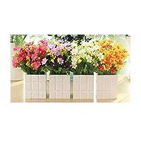 LPRD 造花セット、シルクフラワー/ドライフラワーの花束/プラスチック人工花人工の花のセットの装飾は、リビングルーム/ホーム/結婚式のパーティーを飾るために使用することができます (Color : C)