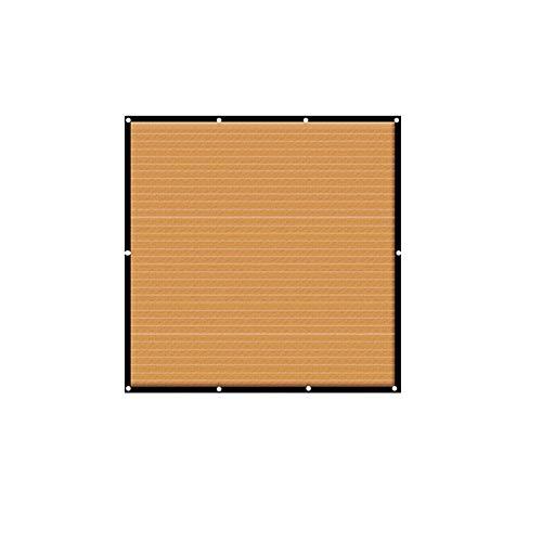 Ljings 90% Tejido Sombra Protección Solar, con Borde Arandelas Aluminio Sombrilla Malla Protección Solar para Toldo con Cubierta Pérgola, para Flores, Plantas, Césped para Patio,4 * 4m