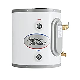 American Standard CE-6-AS 6 gallon Point of Use Electric Water Heater 1 Heavy gauge Steel tank Inner Dura glas lined tank fired at 1,600°f for optimum protection from the effects of corrosion Factory installed Brass drain valve on all models allows for easy draining of the unit which reduces sediment deposits extending tank life