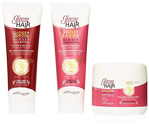 Veana Claude Bell Glossy Hair Shampoing, Conditionneur Plus Masque, 1 Pack (1 X 1 L)