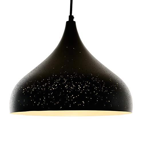 Opis PL3 - Lámpara de pantalla metálica rústica con un singular diseño...