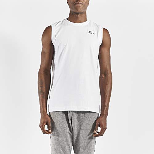 Kappa CADWAL Camiseta sin Mangas, Hombre, Blanco, XL