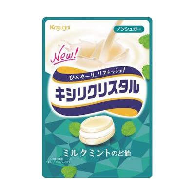 春日井製菓 キシリクリスタル ミルクミントのど飴(71g) 5コ入り