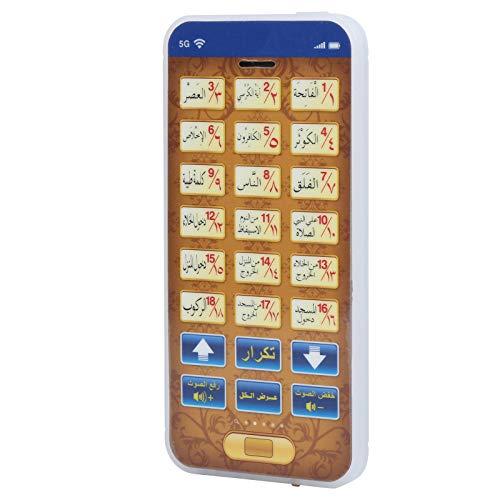 YOUTHINK Jouet de téléphone pour bébé, Jouet de téléphone Arabe 18 chapitre coran Jouets de téléphone Islamique(Bleu)