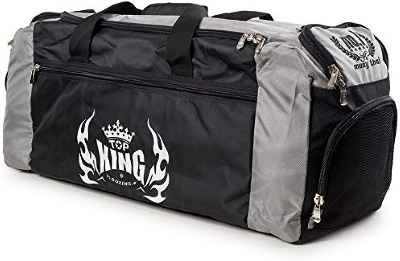 Top King Boxing Gym Bag Black & Grey