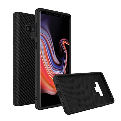 RhinoShield Case Compatible with [Galaxy Note 9]   SolidSuit - Shock Absorbent Slim Design Protective Cover with Premium Matte Finish [3.5M / 11ft Drop Protection] - Carbon Fiber Texture