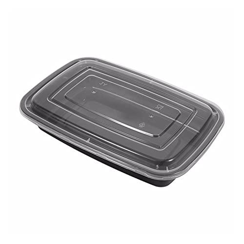GYY 10 Unids/Lote Caja De Plástico BPA- Caja De Almuerzo Desechable Cocina Microondátago Almacenamiento De Comida Almacenamiento De Comidas Lunchbox con Tapa