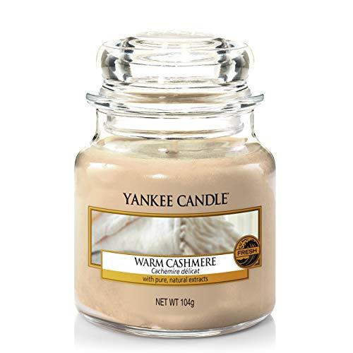 Yankee Candle Duftkerze im Glas (klein) | Warm Cashmere | Brenndauer bis zu 30 Stunden