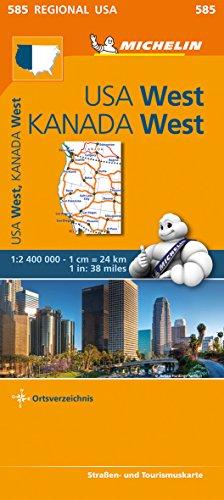 Michelin USA West, Kanada West: Straßen- und Tourismuskarte 1:2.400.000 (MICHELIN Regionalkarten)