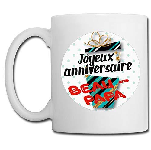 Linyatingoshop - Tazza con scritta 'Happy Birthday', idea regalo per umorismo, motivo: Papa, Beau Papa