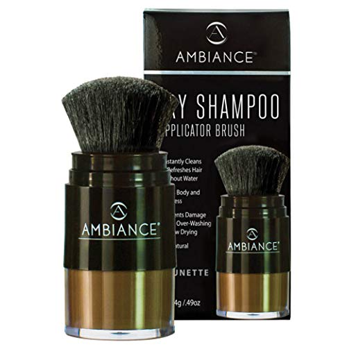 Ambiance Dry Shampoo (Brunette)-Refreshes, Conceals Roots & Volumizes. Absorbs Oil to Clean Hair, Boosting Body & Shine. Covers Roots Between Colorings. Adds Fullness to All Hair Types.