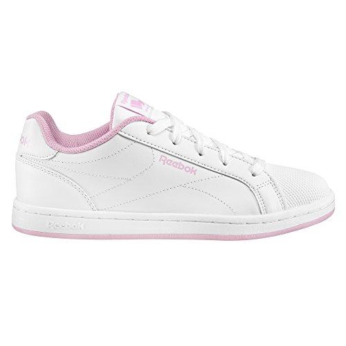 Reebok Bs7930, Mädchen Turnschuhe, weiß - weiß (Weiß/Charming Pink) - Größe: 32.5
