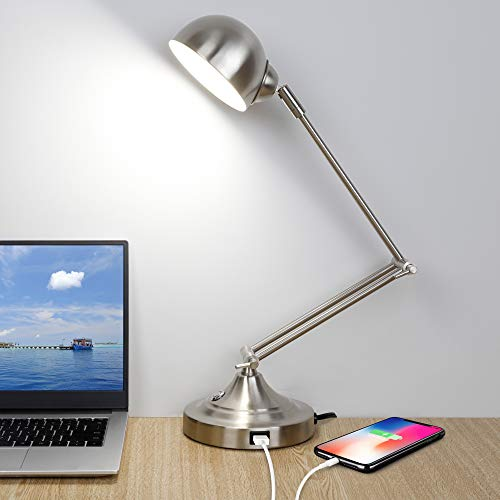 LED Desk Lamp with USB Charging Port, 3 Color Modes, Fully...