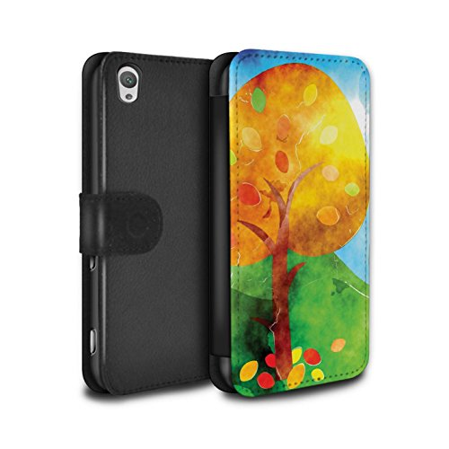 Stuff4® PU Leather Case/Cover/Wallet/oth-psw/Autumn Fashion Collection Peinture à L'aquarelle Sony Xperia XA