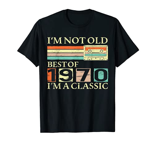 Best Of 1970 51th Birthday Gifts Cassette Tape Vintage T-Shirt