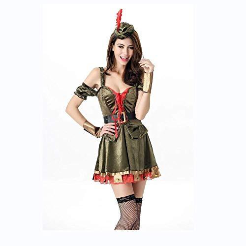 PIN Halloween Kostüme Damen Halloween Kostüm Robin Hood Rollenspiel Kostüm Greenwood Heroes Damen Warrior Cosplay Kostüm
