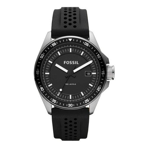 Fossil AM4384 Decker Silicone Watch, Black: Watches
