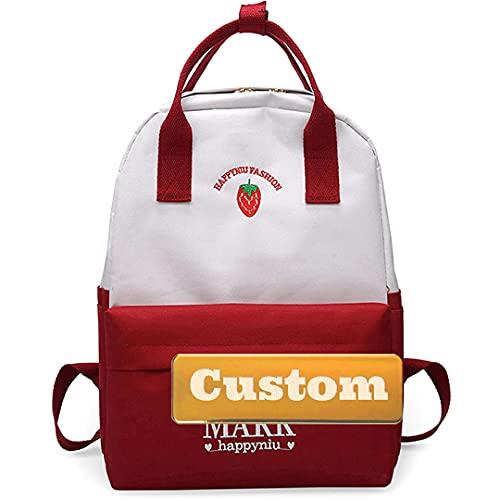 TCross Nome personalizzato Personalizzato Casual Zaino Zaino Backpacking Pack Lightweight Pack Borsa universitaria (Color : Rosso, Size : One size)