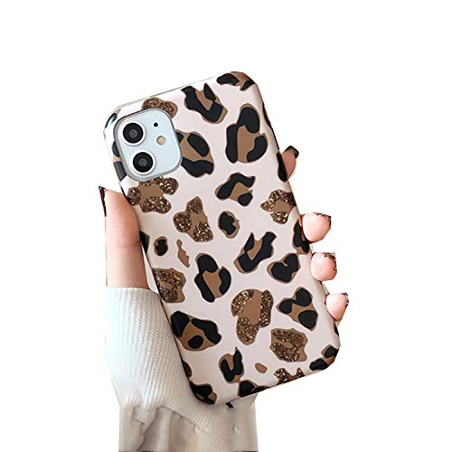 EYDLK Leopard Print Phone Case for iPhone 11 12 Pro MAX XR Plus Strap Soft Silicone Lanyard Cover-Without Lanyard-for iPhone 12 Pro