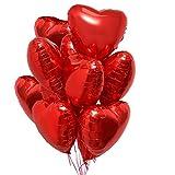 25 Globos Corazón Rojo Helio o Aire Decoración Romantica para el Día de San Valentín Bodas Nupcial Aniversario y Compromiso