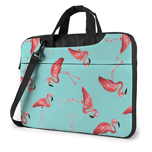 XCNGG Shockproof Laptop Bag Flamingos Shoulder Messenger Bag Slim Briefcase Carry Handbag for Business Office