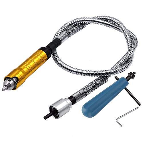 フレキシブルシャフト ハンドルチャック 延長コード フレックス シャフト 電動グラインダードリル ロータリーツール用 0.3~6.5mmチャック