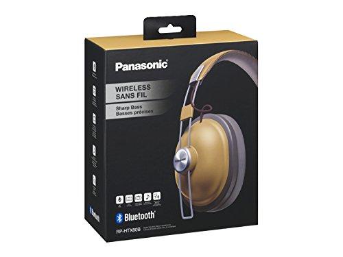 Panasonic RP-HTX80BE-C Bluetooth Kopfhörer (Kopfhörer Retro, 24 h Akkulaufzeit, Over-Ear, Quick-Charge, Sprachsteuerung) camel