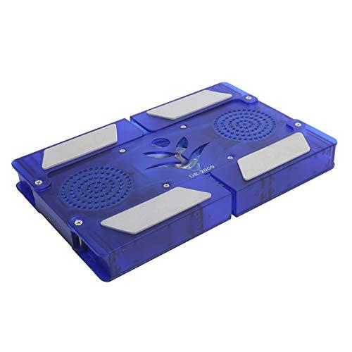 PUSOKEI Laptop Cooling Pad, Laptop Cooler with 2 Fan Light-Emitting, Portable USB Powered Gaming Laptop Cooling Pad, Notebook Cooler Base