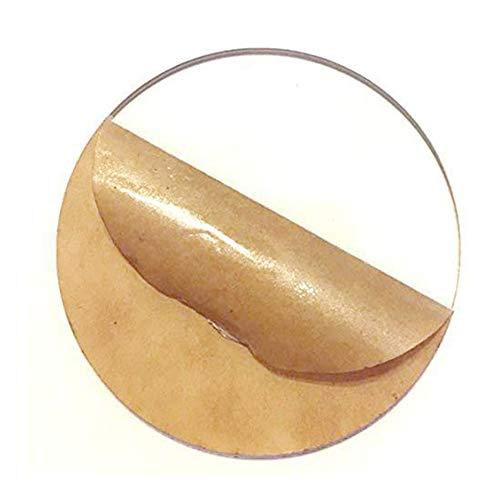 Wzqwzj Strato Acrilico Plexiglass Rotonda Pannello Disc, Bordo di plastica, con Carta di Protezione, Spessore: 3mm,Diameter:300mm