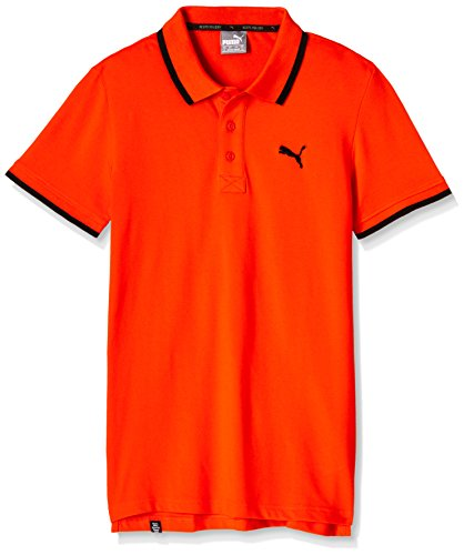 Puma Men's Polo (4056207136383_59144116_Small_Orange.Com-DGH)