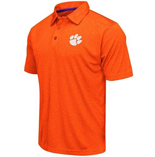Colosseum Men's NCAA Heathered Trend-Setter Golf/Polo Shirt-Clemson Tigers-Heathered Orange-Large