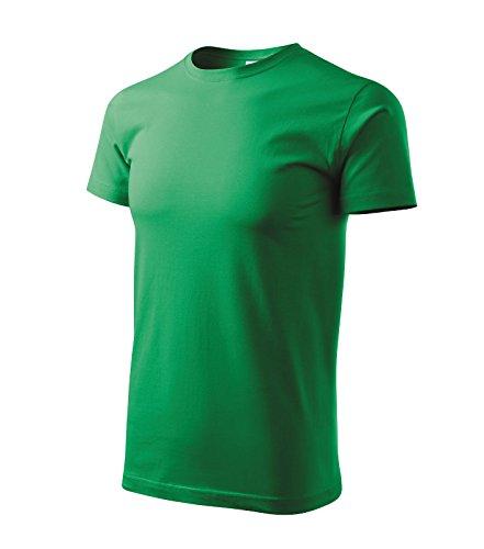 T-Shirt Classic Herren Shirt Baumwolle - Größe und Farbe wählbar - (L, grasgrün)