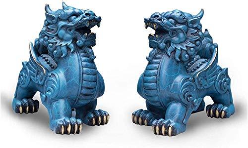 Scultura,All-Bronze Pixiu Ornaments Feng Shui Lucky Fortune Gathering Overlord Pixun Soggiorno Ingresso Azienda Scrivania Decorazione Decorazioni per Armadietto del Vino Decorazione Figurina