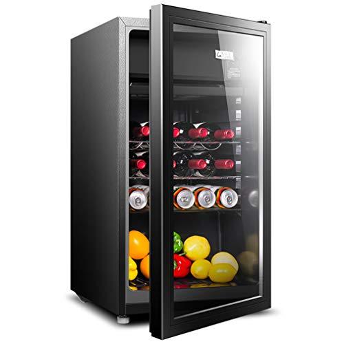 JCJ-Shop Table-Top Weinkühlschrank Schwarz | 5-12 ° C | 20 Flaschenkapazität | 90L Aufsatzkühler | Glastür Getränke Keller | Single-Zone [Energieklasse A]