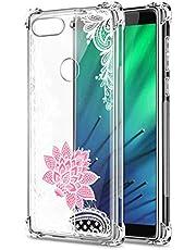 Oihxse Cristal Compatible con OPPO Reno Ace/Realme X2 Pro Funda Transparente TPU Silicona Estuche Airbag Esquinas Anti-Choque Anti Rasguños Diseño Rosa Flower Caso (Flores B5)