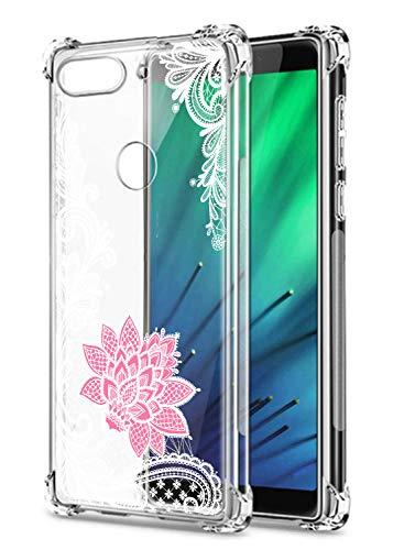 Suhctup Coque Comaptible avec Xiaomi Mi CC9 Étui Houssee,Transparent Motif Fleur [Antichoc Protection des Coins] Crystal Souple Silicone TPU Bumper Case Cover pour Mi CC9,A5