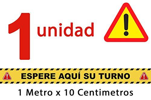 Audibax 1 Vinilo Antideslizante Suelo 10 Cm X 1 Metro. Certificado R9 por Favor, Espere Aquí su Turno
