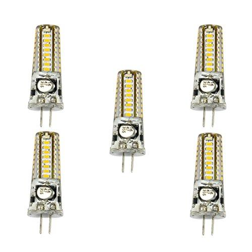 WELSUN 5Pcs G4/GY6.35 4W 3014SMD 36LED 300-350LM Blanc Chaud/Blanc Frais 2800-3200K / 6000-6500K Lumières Décoratives De Bipolaire De LED (AC/DC 12-24V) (Color : Warm White, Size : G4)